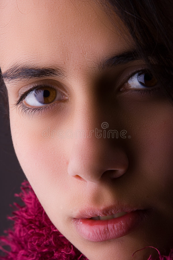 Portrait of female teenager royalty free stock photo