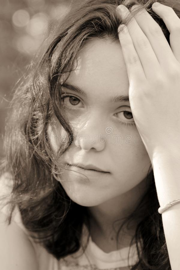 Download Portrait Of Female Teenager Sad Stock Photo - Image: 14200380