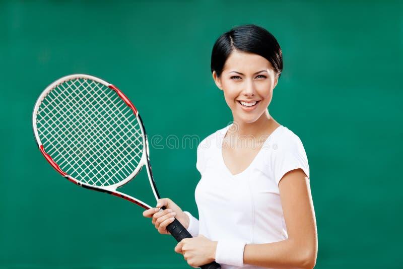 Portrait of female tennis player