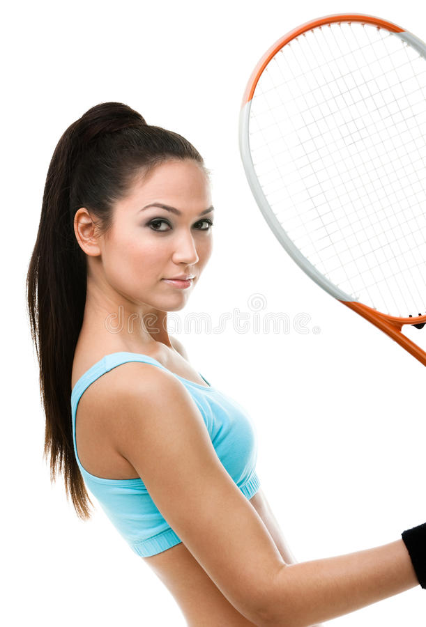Portrait Of Female Tennis Player Stock Images