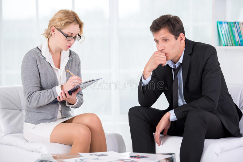 Portrait of female therapist in office with her royalty free stock photos