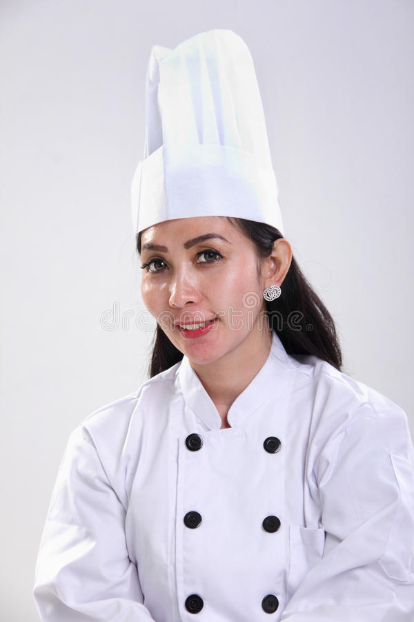 Portrait femelle asiatique de chef images libres de droits