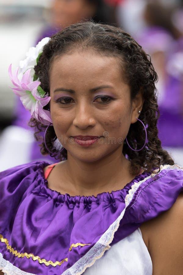 Portrait femelle indigène en Equateur photos stock