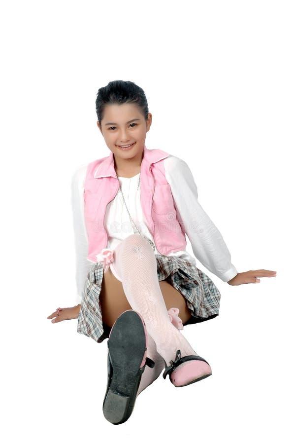 Portrait Fille Asiatique D Adolescent De Jeune Photographie stock libre de droits