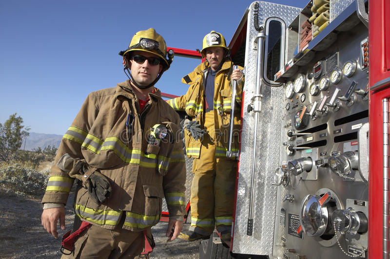 Portrait Of Firefighters royalty free stock photos