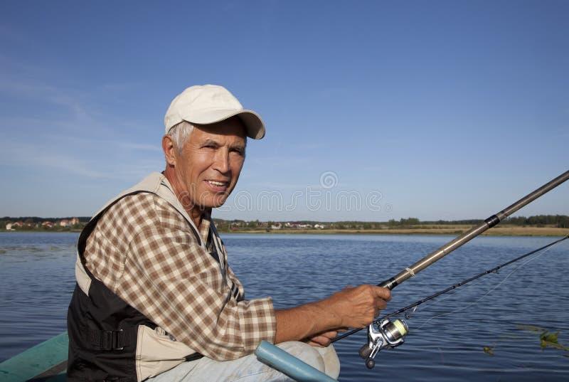 Portrait of fisherman stock photos