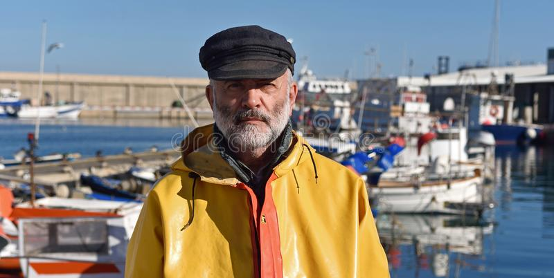 portrait of a fisherman royalty free stock photo