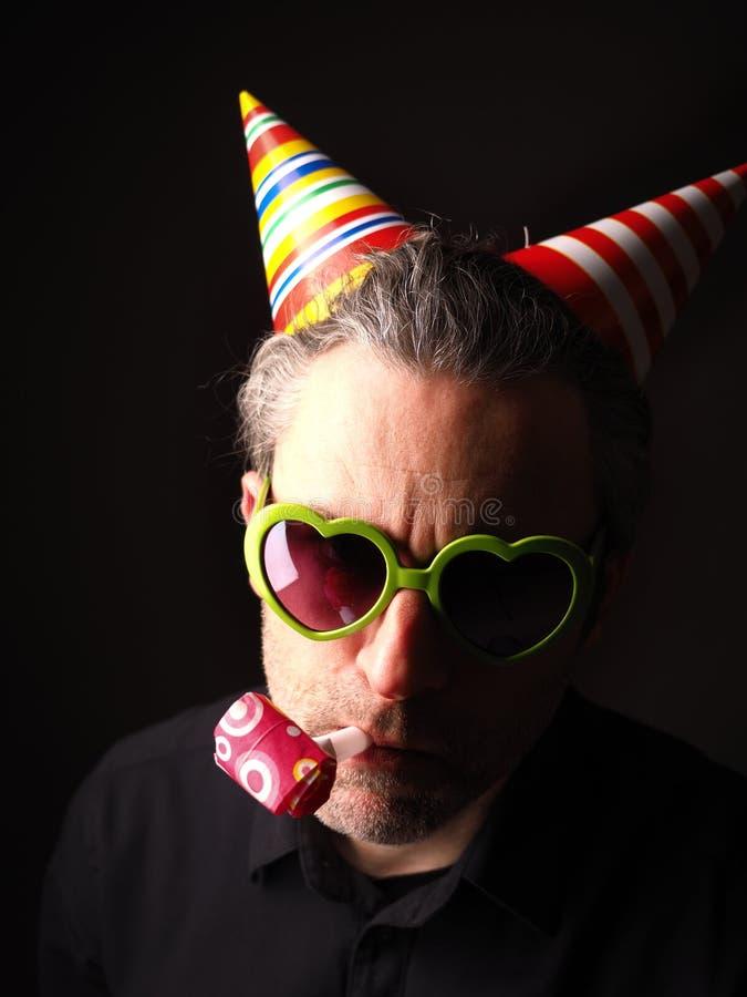 Portrait foncé de carnaval ou d'anniversaire photos stock