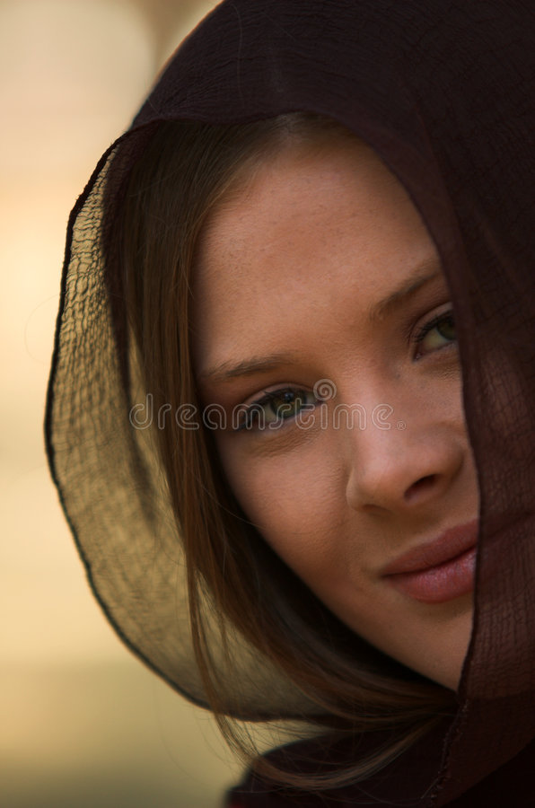 Portrait in forest stock photos