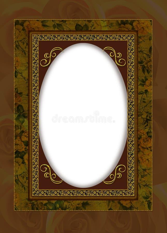 Portrait frame collage royalty free illustration
