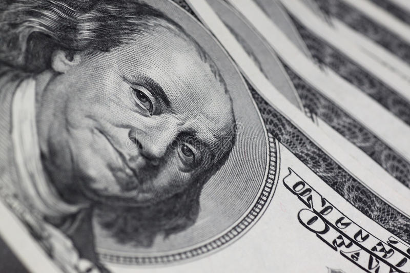 Download Portrait of Franklin stock photo. Image of financial - 24438446