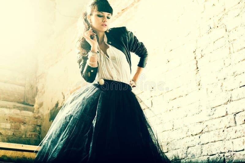 Portrait of a fresh beautiful fashion mod. Portrait of a fresh beautiful fashion mod stock photo