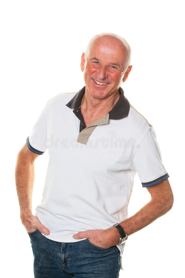 Portrait of a friendly older man royalty free stock photos