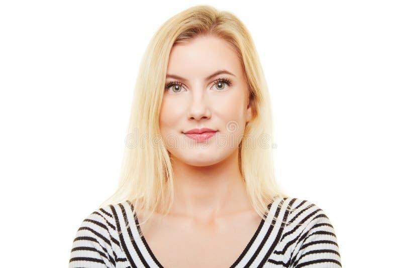 Portrait frontal neutre de femme image libre de droits