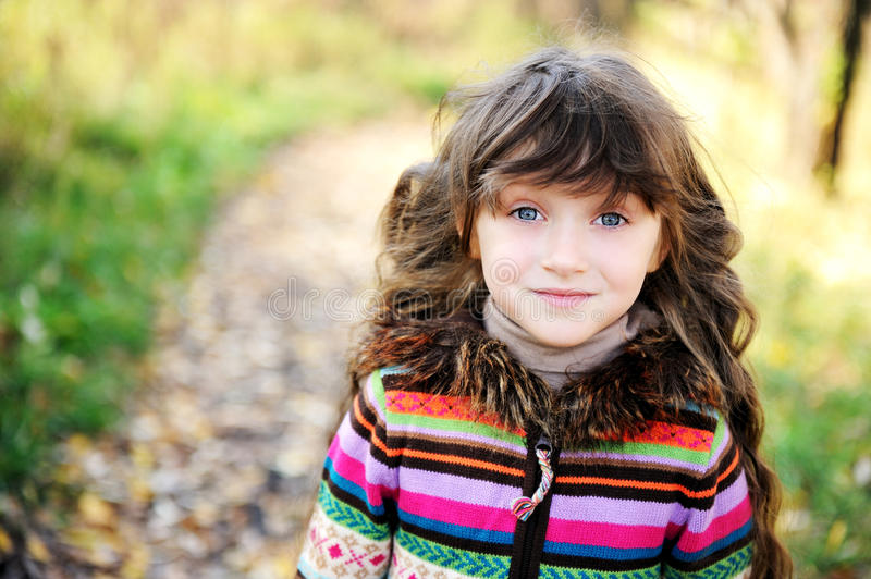 Portrait Of Funky Little Child Girl Royalty Free Stock Image
