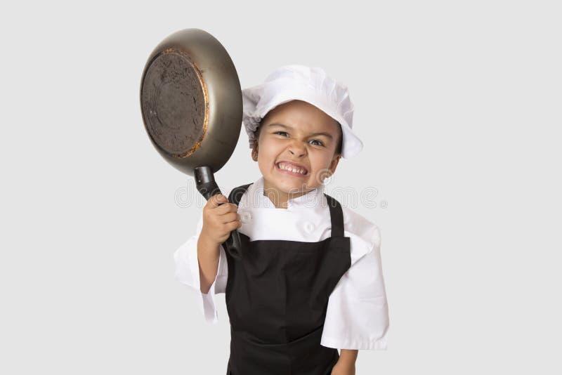 Four years chef girl stock photos