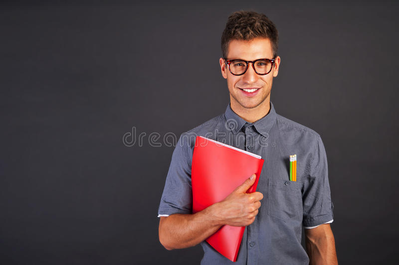 Portrait Of Funny Nerd Man Stock Photography