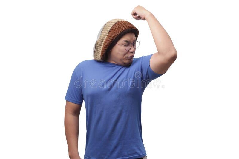 Man Having Bad Body Odor royalty free stock images