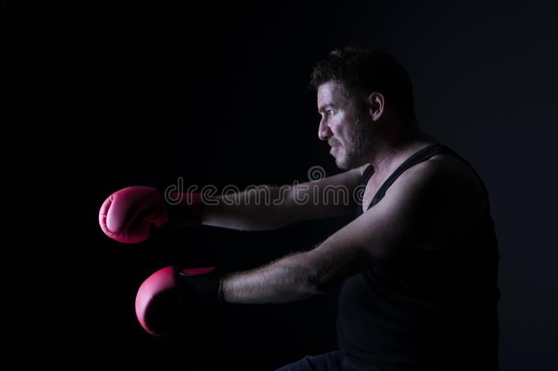 Portrait of furious man royalty free stock photo