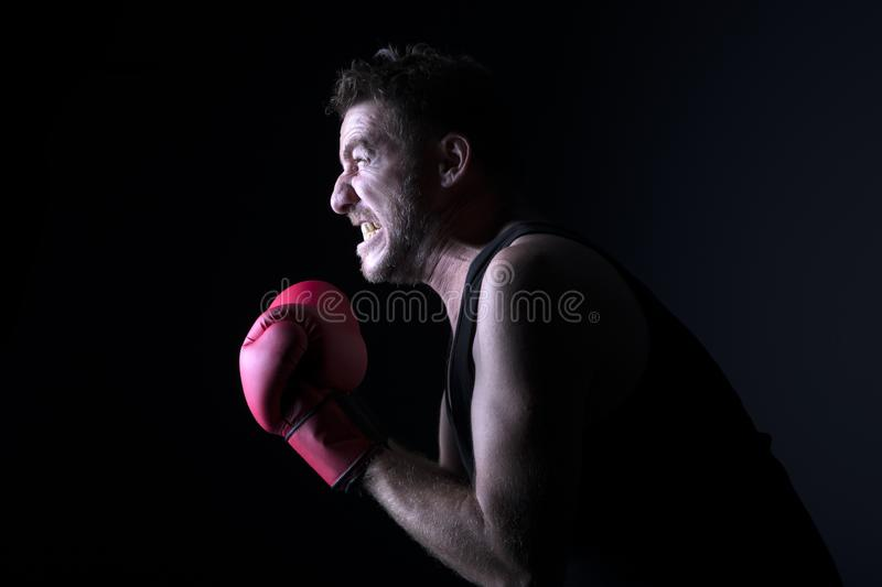Portrait of furious man stock images