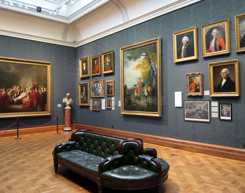 Portrait Gallery. The National Portrait Gallery in London, showing a room devoted to eighteenth century military officers, including George Washington