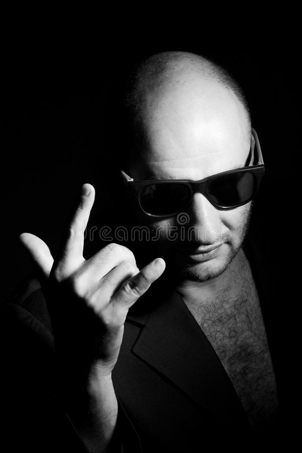 Portrait of a gangster man stock photos