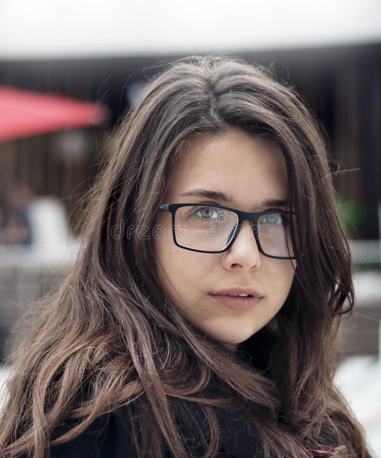 Portrait gentil de fille image libre de droits