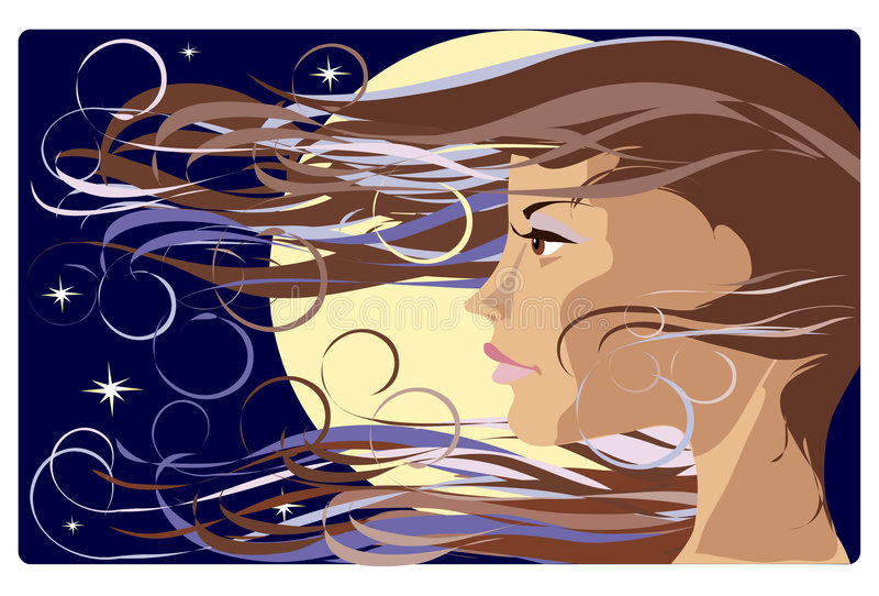 Download Portrait of a girl stock illustration. Illustration of beautiful - 1913990