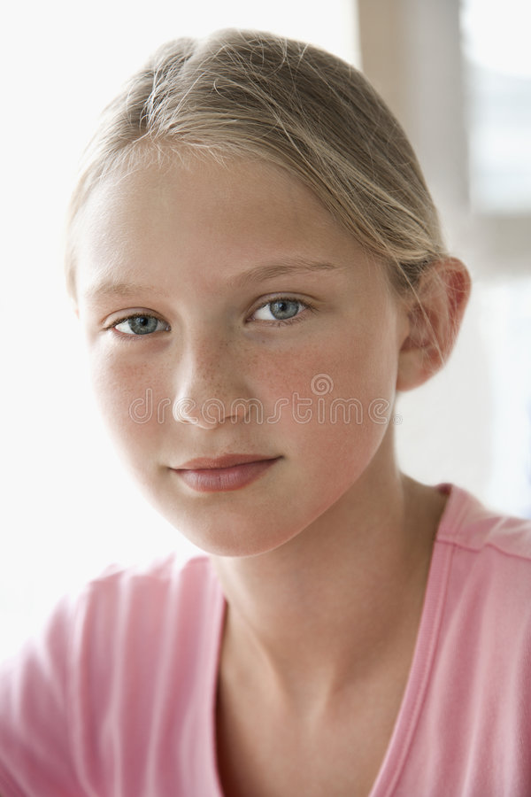 Portrait of a girl. stock photography