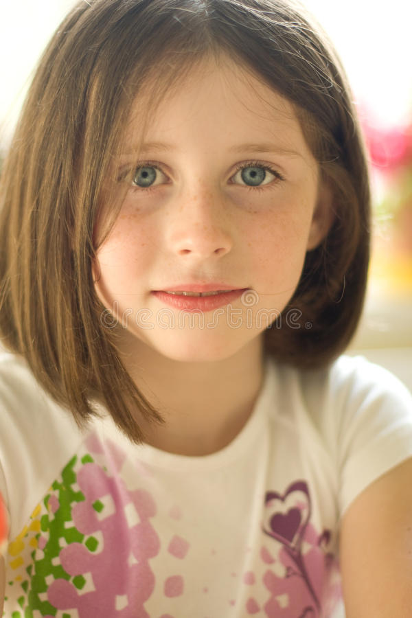 Portrait of a girl stock photography
