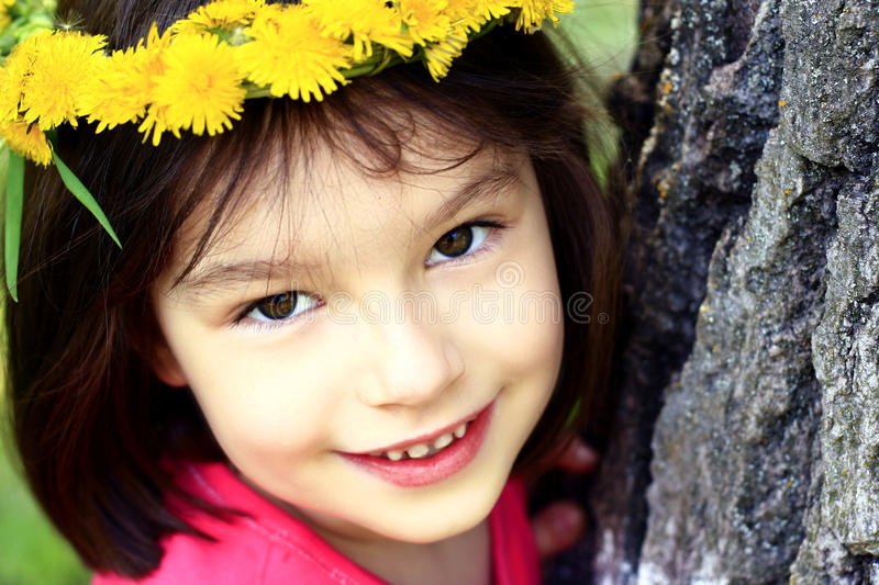 Download Portrait of girl stock image. Image of dandelion, candid - 24668293