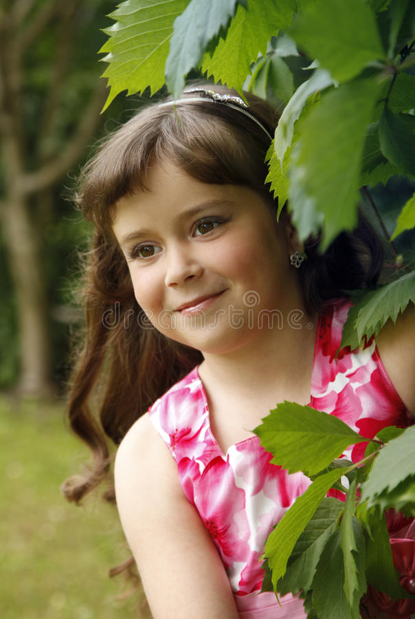 Portrait of the girl royalty free stock photos
