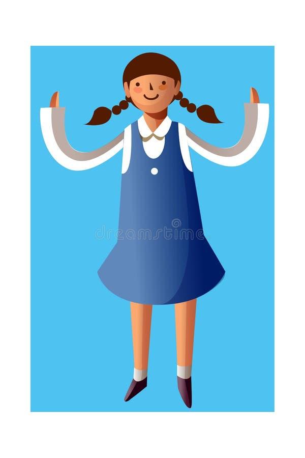 Download Portrait of girl stock vector. Image of figure, children - 26902243