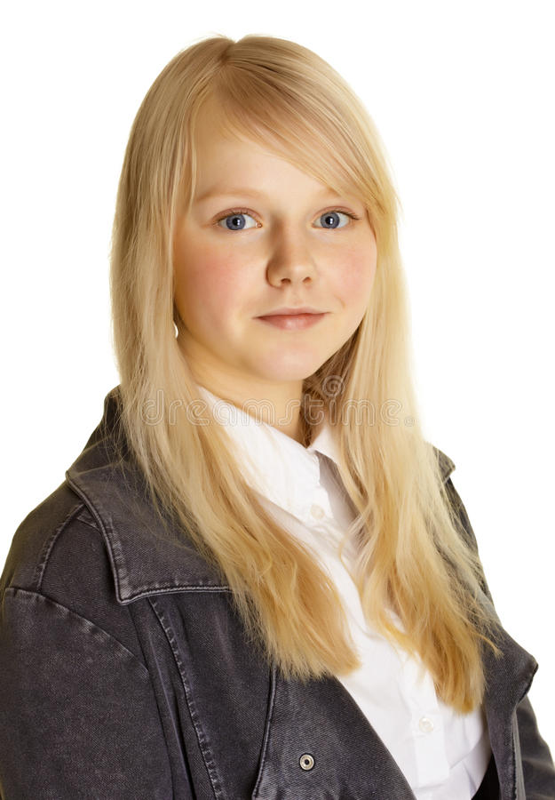 Download Portrait Of Girl With Blond Hair And Pale Skin Stock Image - Image: 19395105