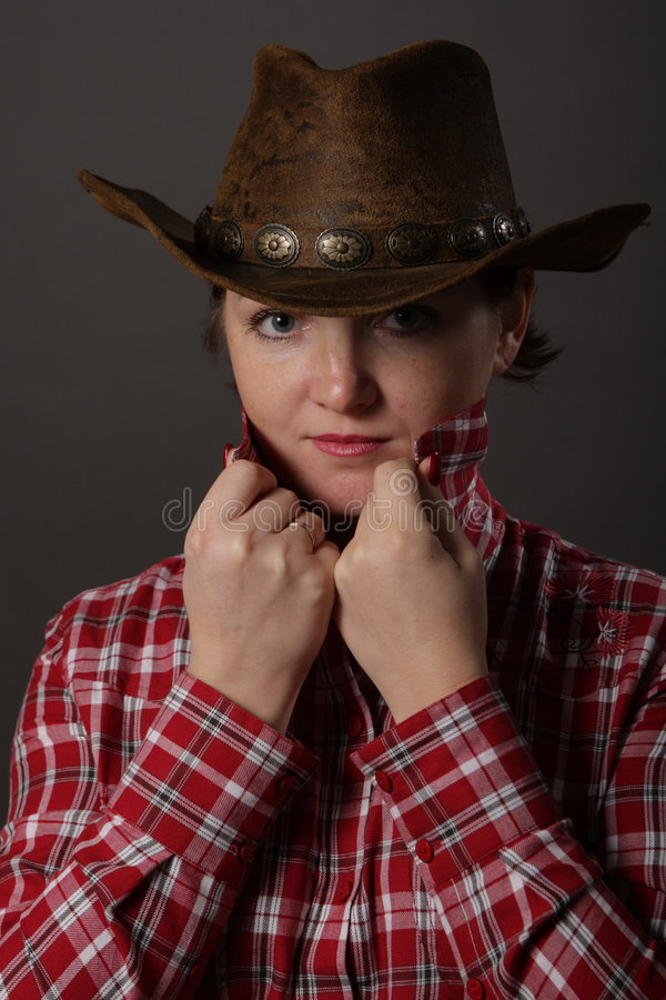 Portrait of a girl Cowboy stock photos