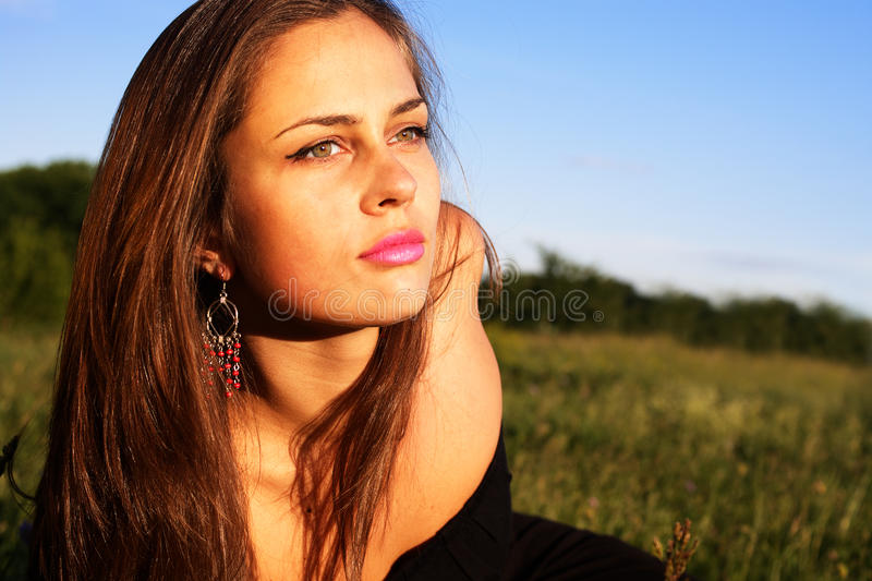 Download Portrait Of Girl Enjoying Summer Stock Photo - Image: 15502940