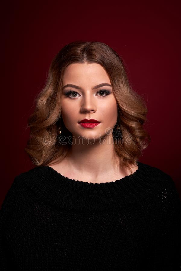 Portrait of a girl in full face royalty free stock image