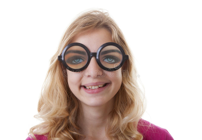 Download Portrait Of Girl With Funny Glases Stock Image - Image: 38691203