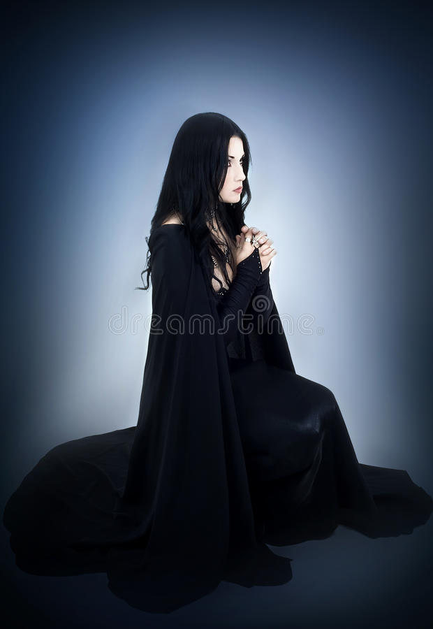 Portrait of the girl in Gothic style. A series. A portrait of the girl in Gothic style stock image