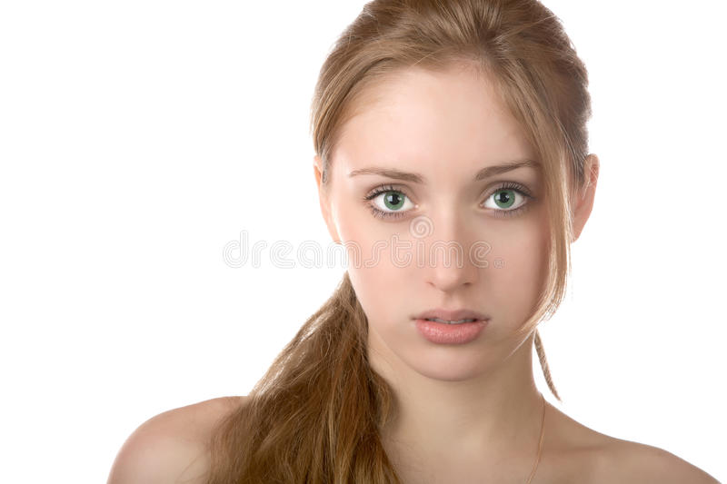 Download Portrait Of The Girl With Green Eyes Stock Image - Image: 18978555