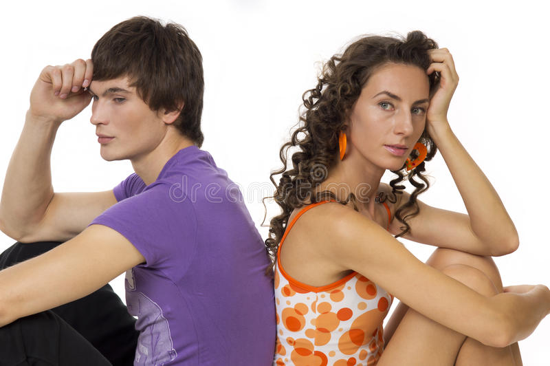 Download Portrait Of A Girl And Guy Royalty Free Stock Images - Image: 21402039
