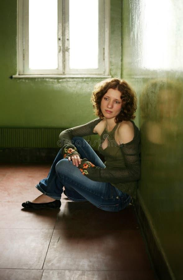 Portrait of the girl stock photo