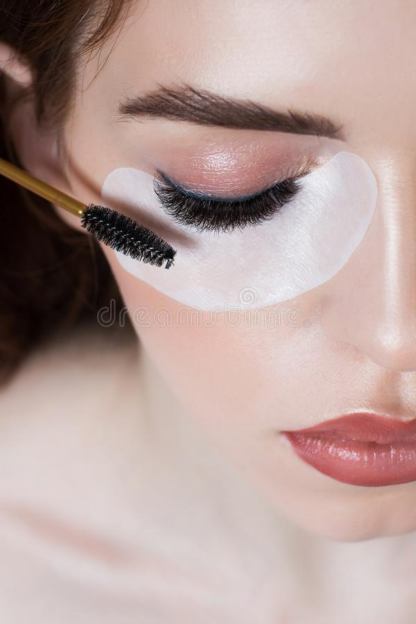 Portrait of a girl with long eyelashes royalty free stock photos