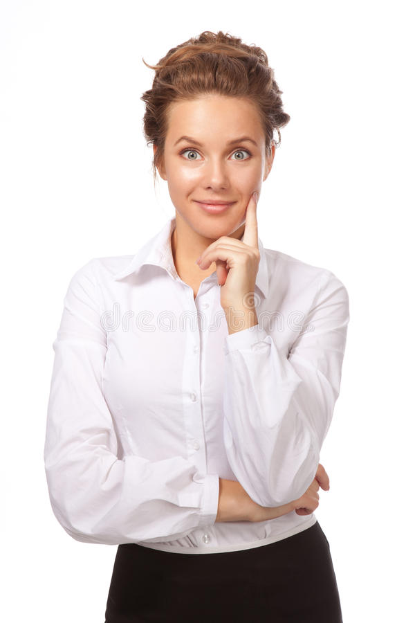 Download Portrait Of A Girl Lost In Thought About Something Stock Photos - Image: 27493643