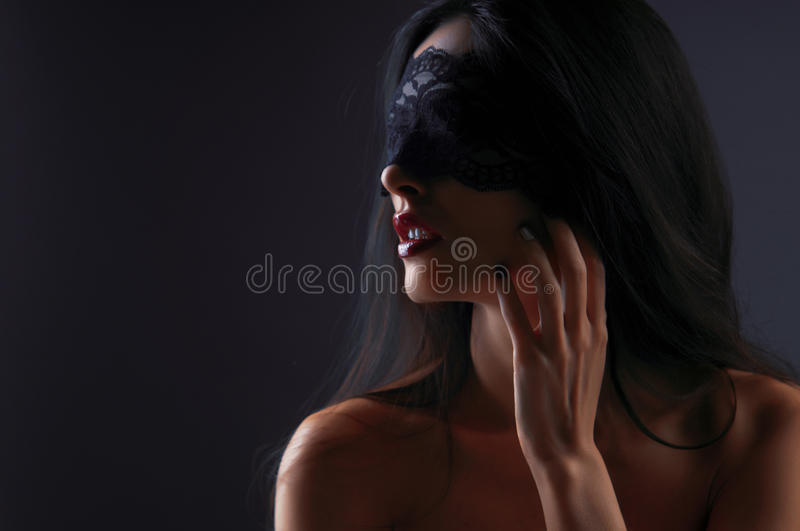 Download Portrait Of A Girl In A Mask Stock Photo - Image: 26415376