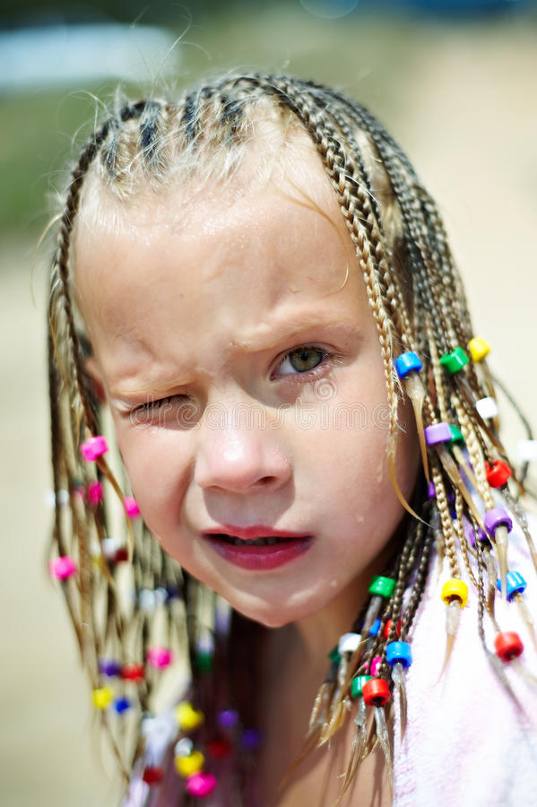 Download Portrait Of A Girl With Pigtails Stock Image - Image of looking, braids: 26824843