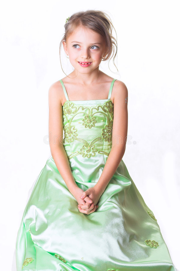 Portrait of the girl of preschool age, studio photographing on a royalty free stock images