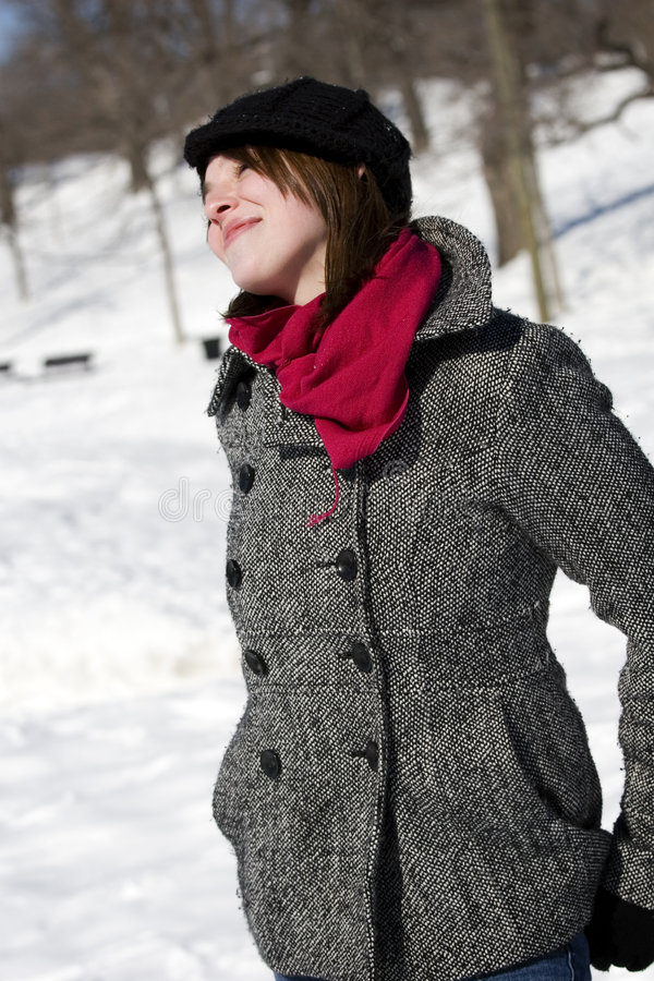 Download Portrait Of Girl With Scarf Stock Image - Image: 8712851