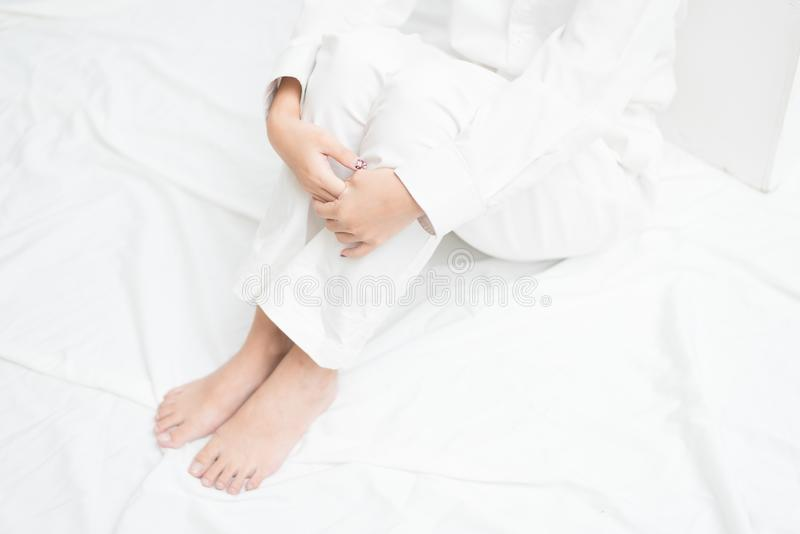White clothes studio royalty free stock images