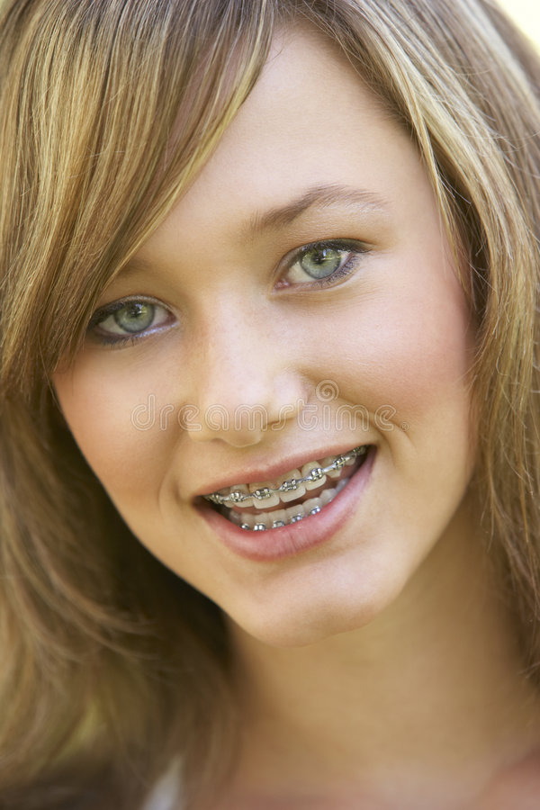Portrait Of Girl Smiling stock photo